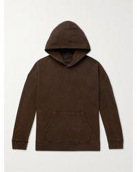 Visvim Jumbo Garment-dyed Loopback Cotton-jersey Hoodie - Brown