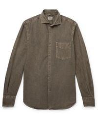 Aspesi Cotton Oxford Shirt - Green