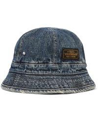 Neighborhood Savage Distressed Denim Bucket Hat - Blue