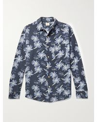 Faherty Brand - The Chamois Printed Brushed-cotton Shirt - Lyst