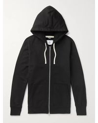 Reigning Champ Loopback Cotton-jersey Zip-up Hoodie - Black