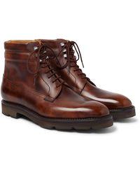 John Lobb Alder Burnished-leather Boots - Brown