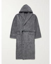 Schiesser Cotton-terry Hooded Robe - Grey