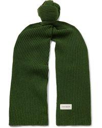 Oliver Spencer Ribbed Wool-blend Scarf - Green