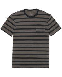 J.Crew - Garment-dyed Striped Slub Cotton-jersey T-shirt - Lyst