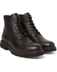 Brunello Cucinelli - Panelled Leather Boots - Lyst