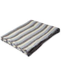 Frescobol Carioca Striped Linen Towel - Blue