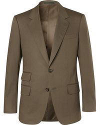 Kingsman - Eggsy's Olive Stretch-cotton Twill Suit Jacket - Lyst