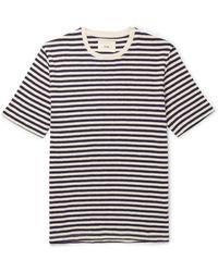 Folk Ecru & Navy Classic Stripe T-shirt - Blue