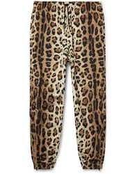 Wacko Maria Tapered Leopard-print Shell Track Pants - Multicolor