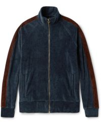 Fanmail - Organic Cotton-velour Track Jacket - Lyst
