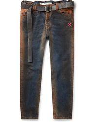 Off-White c/o Virgil Abloh Oil-washed Denim Jeans - Blue