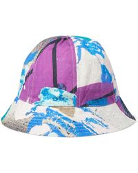 Folk - + Alfie Kungu Printed Linen And Cotton-blend Bucket Hat - Lyst