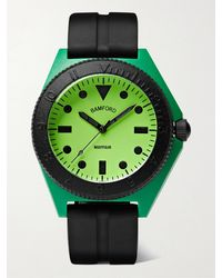 BAMFORD LONDON Mayfair Sport Limited Edition Polymer And Rubber Watch - Green