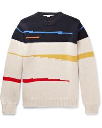 Stella McCartney - Jacquard-knit Virgin Wool Jumper - Lyst