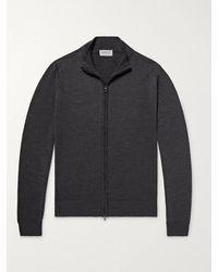 John Smedley Claygate Merino Wool Zip-up Cardigan - Grey