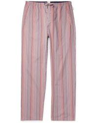 Paul Smith Striped Cotton Drawstring Pajama Pants - Multicolor