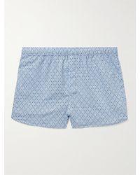 Derek Rose Nelson Printed Cotton Boxer Shorts - Blue