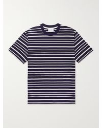 Norse Projects Johannes Striped Cotton-jersey T-shirt - Blue