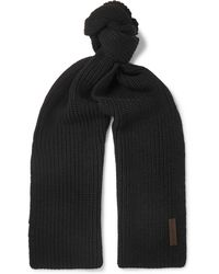 Ermenegildo Zegna - Ribbed Wool Scarf - Lyst