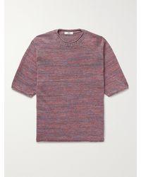 Inis Meáin Mélange Linen T-shirt - Red
