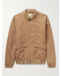 De Bonne Facture Linen Jacket - Brown