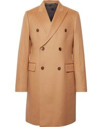 Paul Smith Double-breasted Wool And Cashmere-blend Coat - Natural