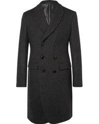 Giorgio Armani - Shawl-collar Double-breasted Virgin Wool Overcoat - Lyst