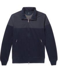 Brunello Cucinelli - Shell And Cotton-blend Jersey Zip-up Sweatshirt - Lyst
