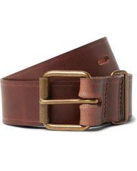Bleu De Chauffe Fred 4cm Leather Belt - Brown