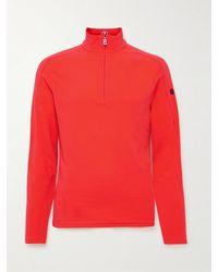 Bogner Harrison Slim-fit Fleece Half-zip Ski Base Layer - Red