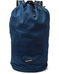 Nanamica Packable Mesh And Ripstop Backpack - Blue