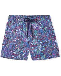 Etro Mid-length Paisley-print Swim Shorts - Blue