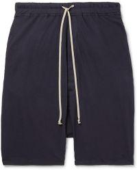 Rick Owens - Pod Cotton-jersey Drawstring Shorts - Lyst