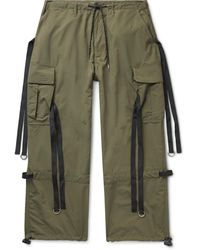 Flagstuff Wide-leg Webbing-trimmed Ripstop Cargo Trousers - Green