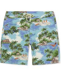 Faherty Brand Long-length Printed Swim Shorts - Multicolor
