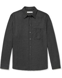 Umit Benan B+ Umit Benan B - Cashmere And Silk-blend Shirt - Gray