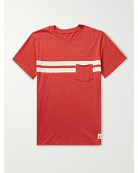 Birdwell Comp Striped Cotton-jersey T-shirt - Red