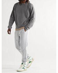 John Elliott Cross Thermal Panelled Cotton-jersey Sweatshirt - Grey