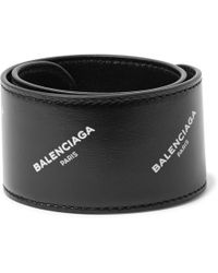 Balenciaga - Printed Leather Snap Bracelet - Lyst