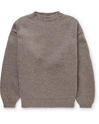 Fear Of God Oversized Wool Sweater - Gray