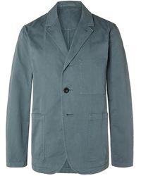 MR P. Garment-dyed Cotton Blazer - Blue