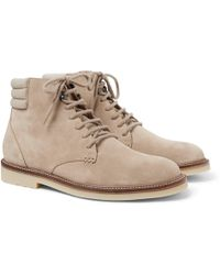 Loro Piana - Icer Walk Cashmere-trimmed Suede Boots - Lyst