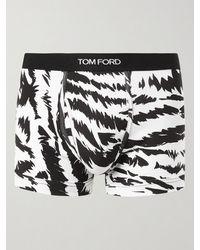 Tom Ford - Zebra-print Stretch-cotton Jersey Boxer Briefs - Lyst