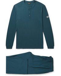 Ermenegildo Zegna Modal-blend Pyjama Set - Blue