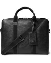BOSS - Timeless Cross-grain Leather Briefcase - Lyst