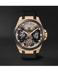 Ulysse Nardin Blast Automatic Tourbillon Skeleton 45mm 18-karat Rose Gold - Black