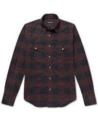 Tom Ford Buffalo Check Cotton-flannel Shirt - Multicolor