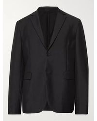 Acne Studios Unstructured Wool And Mohair-blend Blazer - Black