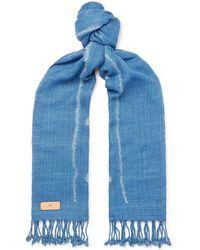 Il Bussetto - Indigo-dyed Cotton Scarf - Lyst
